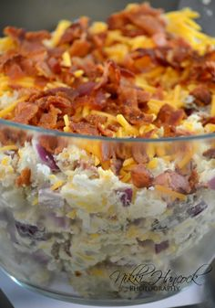 Loaded Baked Potato Salad - perfect Labor Day party or BBQ side dish. People go nuts over this! I seriously get asked to make it for every single get together.
